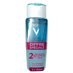 VICHY PURETE THERMALE Démaquillant waterproof yeux sensibles 2x150ml