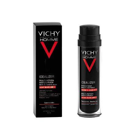 VICHY HOMME IDEALIZER Hydratant multi-action rasage fréquent Flacon pompe de 50ml