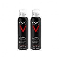 VICHY HOMME Gel de rasage Peaux sensibles 2 Aérosols de 150ml