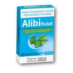 ALIBI POCKET Assainit l'haleine Boite de 12 pastilles à sucer