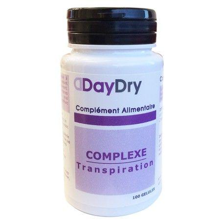 DAYDRY Complément alimentaire Complexe transpiration Boite de 100 gélules