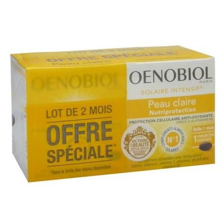 OENOBIOL Solaire intensif Nutriprotection peau claire Lot de 2 mois