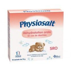 PHYSIOSALT Soluté de réhydratation orale en cas de diarrhée Boie de 10 sachets