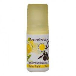 BRUMIZEA Désinfecte et désodorise les aspirateur sans sac Parfum fruité Spray de 30 ml