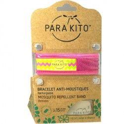 PARA'KITO Bracelet répulsif anti-moustique rose