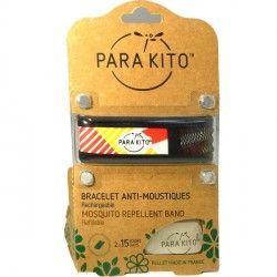 PARA'KITO Bracelet répulsif anti-moustique noir