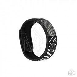 PARA'KITO Bracelet répulsif anti-moustique noir et blanc
