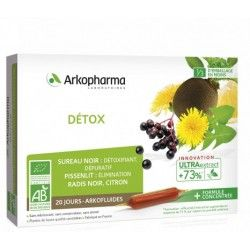 ARKOPHARMA Arkofluides Détox BIO Boite de 20 ampoules