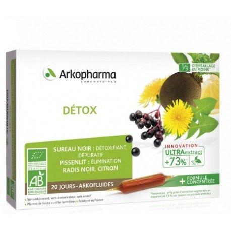 ARKOPHARMA Arkofluides Détox Boite de 20 ampoules
