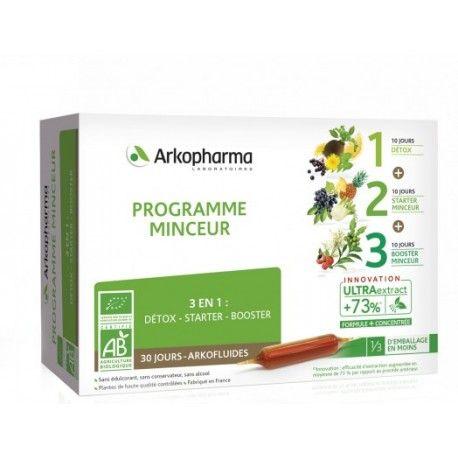 ARKOPHARMA Arkofluides Programme minceur 3 en 1 Boite de 30 ampoules