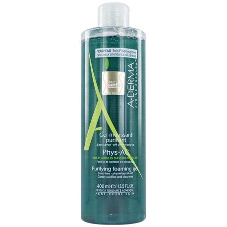 ADERMA Gel moussant purifiant PHYS-AC Flacon de 400 ml