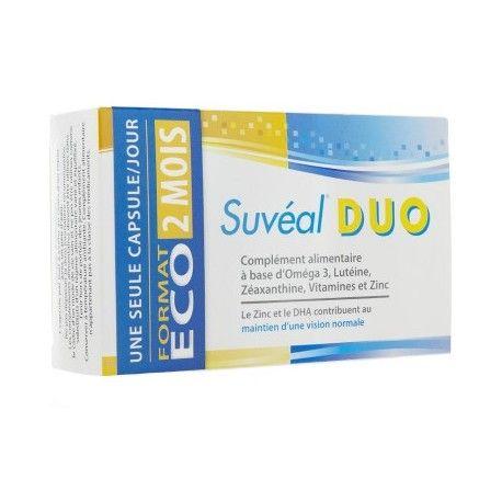 SUVEAL DUO Complémet alimentaire Boite de 60 capsules pour 2 mois