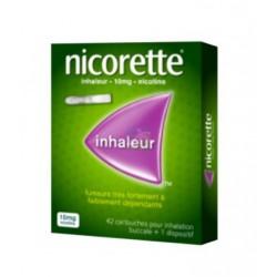 NICORETTE INHALEUR 10mg Cartouche pour inhaleur buccal Boite de 42