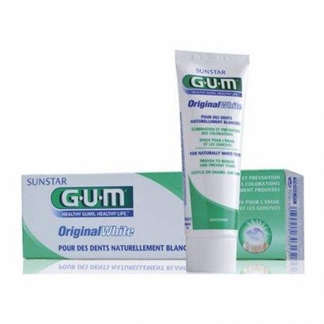GUM Original White Dentifrice pour des dents naturellement blanches Tube de 75 ml