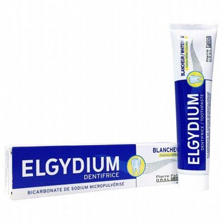 ELGYDIUM Dentifrice Blancheu Saveur citron Tube de 75 ml