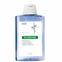 KLORANE Shampooing aux fibres de Lin Volume et texture Flacon de 200 ml