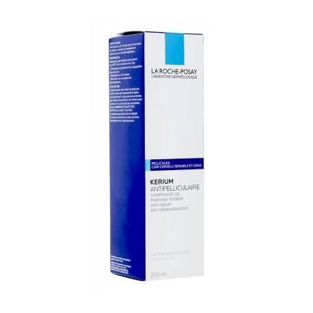 LA ROCHE POSAY KERIUM Antipelliculaires pour cheveux gras Flacon de 200ml