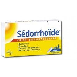 SEDORRHOIDE CRISE HEMORROIDAIRE Suppositoires Plaquette de 8