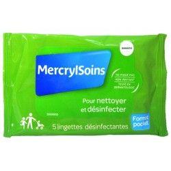 MERCRYL Soins Sachet de 15 lingettes désinfectantes