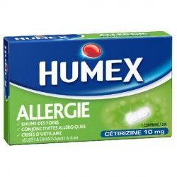 HUMEX ALLERGIE CETIRIZINE Cpr pesé Plq/7