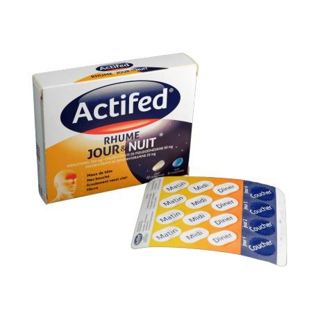 ACTIFED JOUR & NUIT Cpr B/16