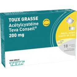 ACETYLCYSTEINE 200 mg ratiopharm Conseil Boite de 20 sachets-dose
