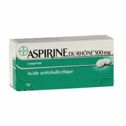 ASPIRINE Du rhône 500 mg Boite de 50 comprimés