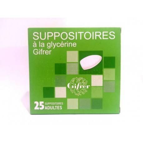SUPPOSITOIRE A LA GLYCERINE GIFRER ADULT B/25
