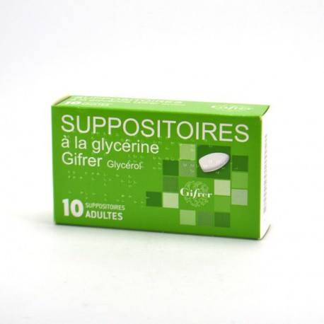 SUPPOSITOIRE A LA GLYCERINE GIFRER ADULT B/10