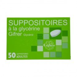 SUPPOSITOIRE A LA GLYCERINE GIFRER ADULT B/50