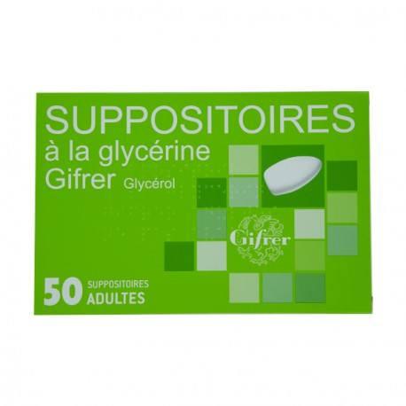 SUPPOSITOIRE A LA GLYCERINE GIFRER ADULTES Boite de 50