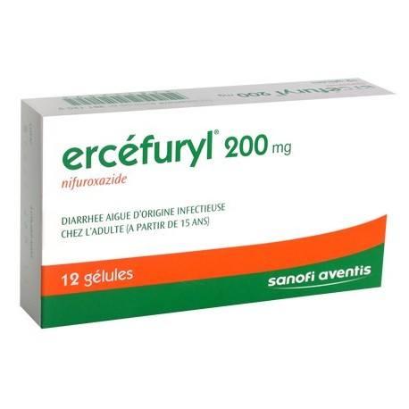 ERCEFURYL 200mg Gélules Plaquette de 12