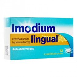 IMODIUMLINGUAL 2mg Lyophilisat oral Plaquete de 12