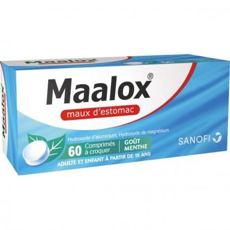 MAALOX Comprimés à croquer maux d'estomac Plq/60