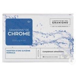 Granion de chrome 200ug/jour boite de 30 ampoule de 100 ug