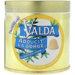 VALDA Pastilles gout Miel Citron Boite de 50 grammes