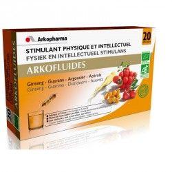 ARKOPHARMA Arkofluide Stimulant physique et Intellectuel Boite de 20 ampoule
