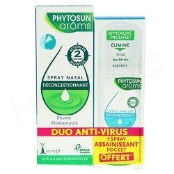 PHYTOSUN AROMS Spray nasal et spray assainissant offert