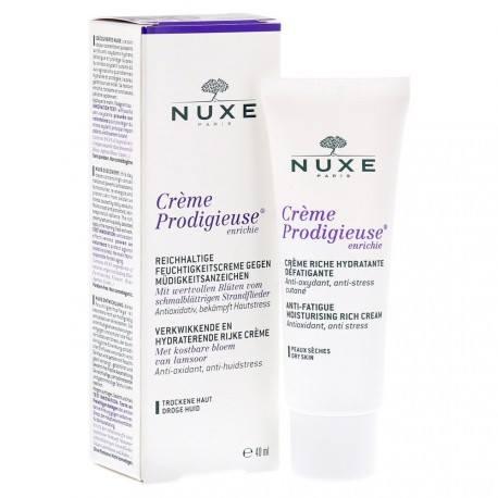 NUXE Crème Prodigieuse enrichie Hydratante défatiguante Tube de 40 ml