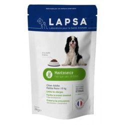 LAPSA Croquettes chiens adultes - 10Kg de 1 à 7 ans MAINTENANCE  Sachet de 3kilos