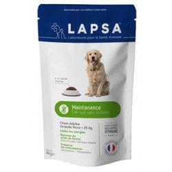 LAPSA Croquette MAINTENANCE chiens adultes de 1 à 7 ans DE + 25 kilos Sachet de 4 kilos