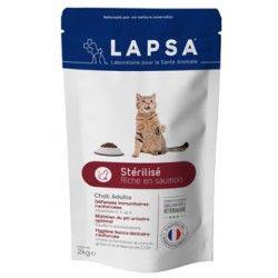 LAPSA Croquettes pour chats adultes STERILISE Sachet de 2kg