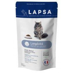 LAPSA Croquettes LONGEVITE pour chats sénior Sachet de 2 kg