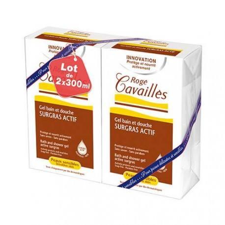 ROGE CAVAILLES Gel Surgras Bain douche Sans Savon 2 Flacon de 300 ml