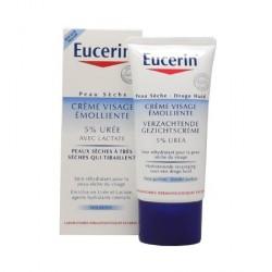 Eucerin Crème Visage Emolliente 5% Urée Tube de 50 ml