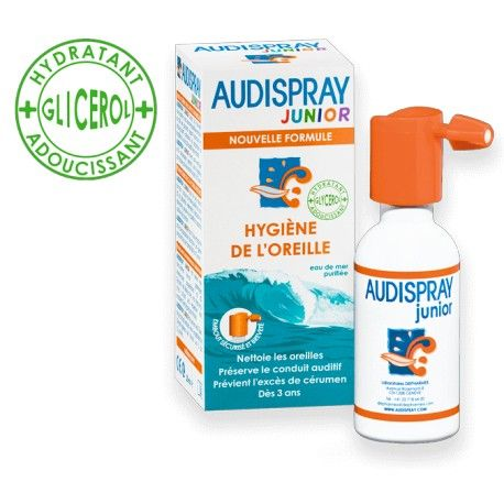 AUDISPRAY Junior Hygiéne de l'oeille Spray de 25 ml