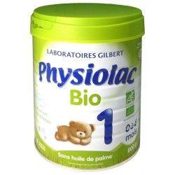 Physiolac Bio 1ere age De 0 À 6 Mois Boite de 800 grammes