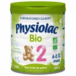 Physiolac Bio 2eme age De 6 À 12 Mois Boite de 800 grammes