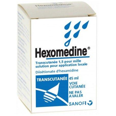 HEXOMEDINE TRANSCUTANEE 1.5 pour mille Flacon de 45 ml