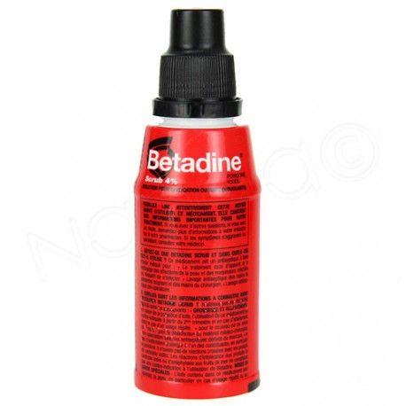 BETADINE Scrub 4 % povidone iodée Flacon de 125 ml